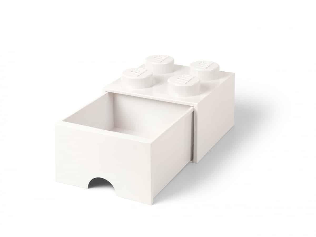 cassetto mattoncino a 4 bottoncini bianco lego 5006208 scaled