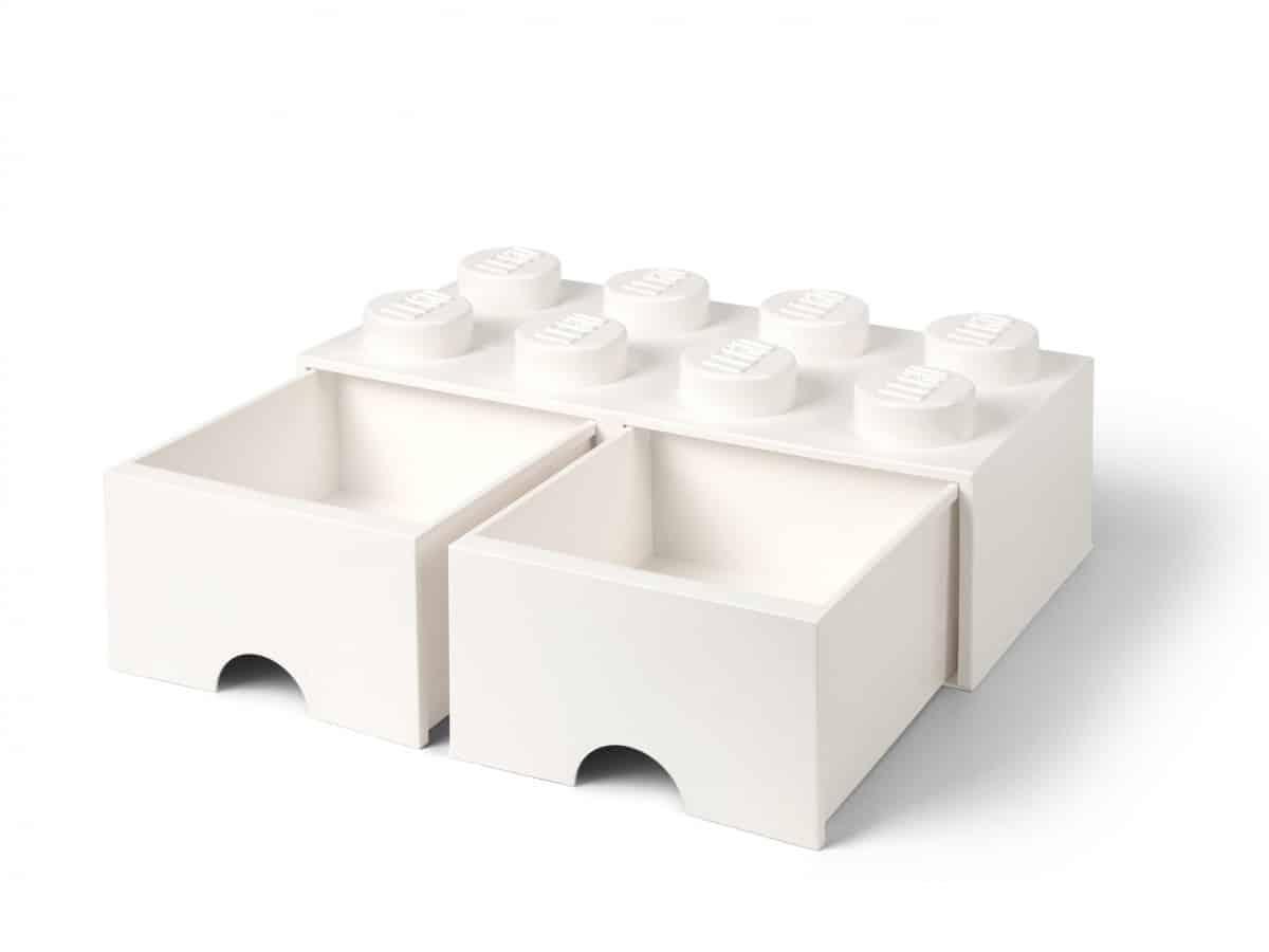 cassetto mattoncino a 8 bottoncini bianco lego 5006209 scaled