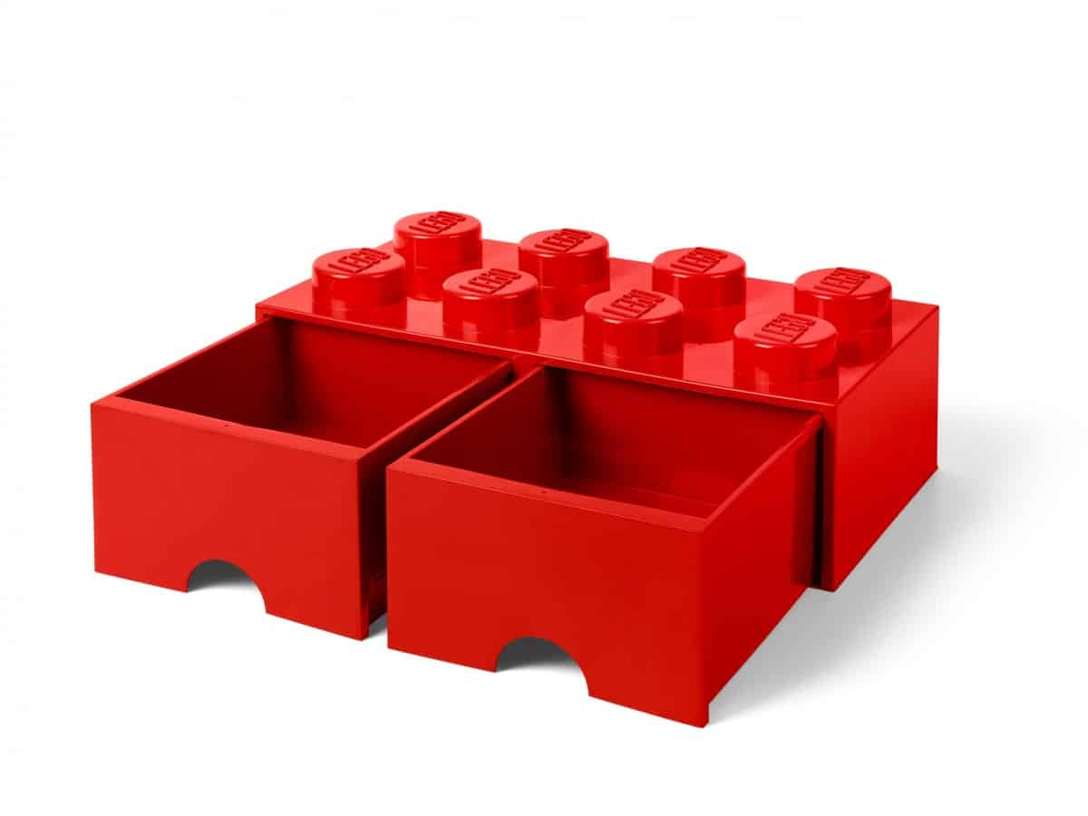 cassetto mattoncino a 8 bottoncini rosso lego 5006131 scaled