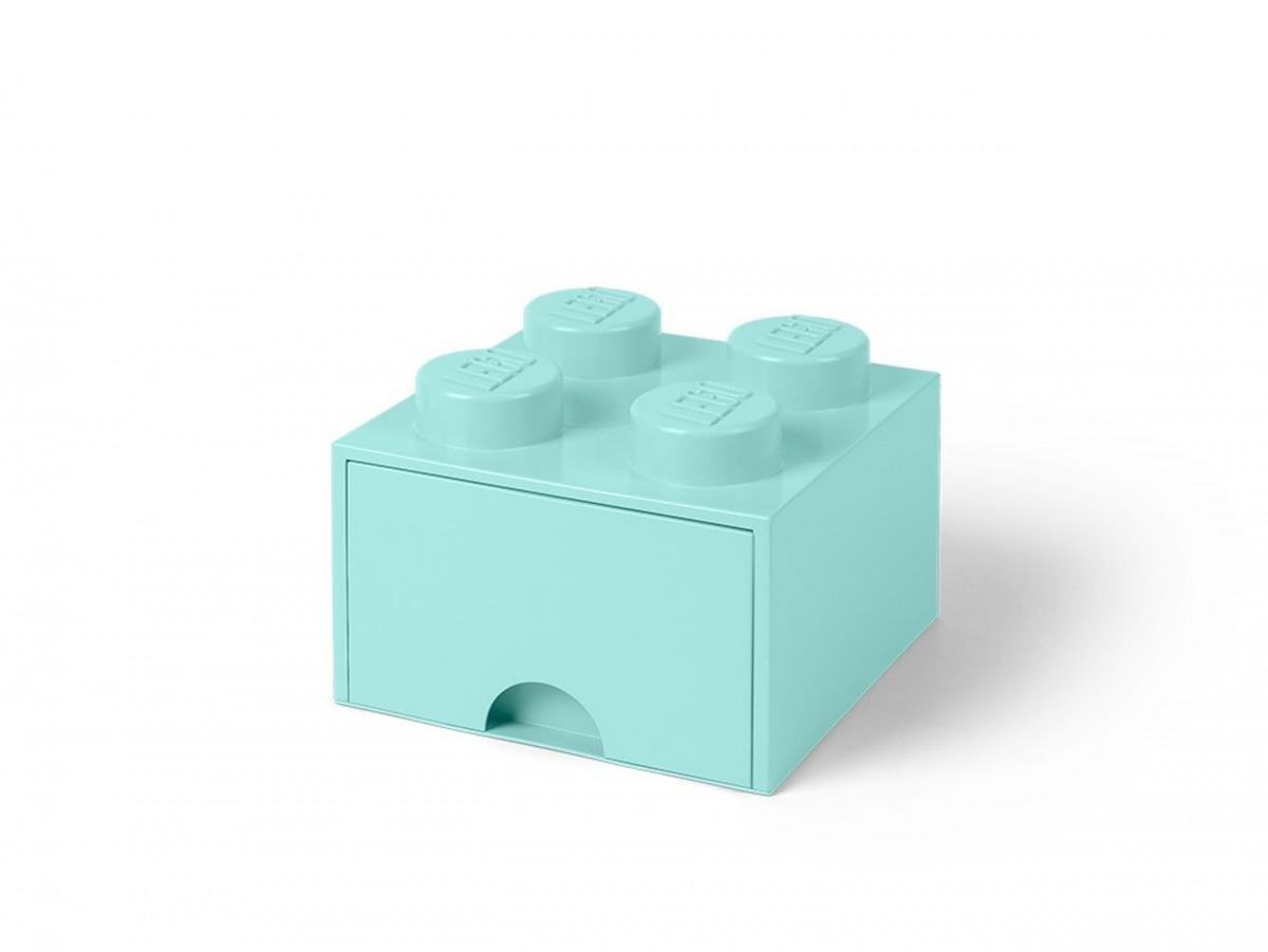 cassetto mattoncino portaoggetti azzurro a 4 bottoncini lego 5005714 scaled