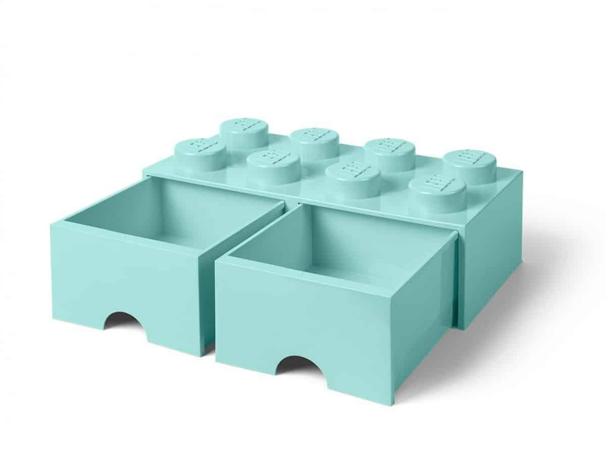 cassetto mattoncino portaoggetti azzurro a 8 bottoncini lego 5006182 scaled