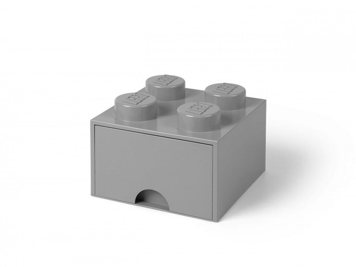 cassetto mattoncino portaoggetti grigio a 4 bottoncini lego 5005713 scaled