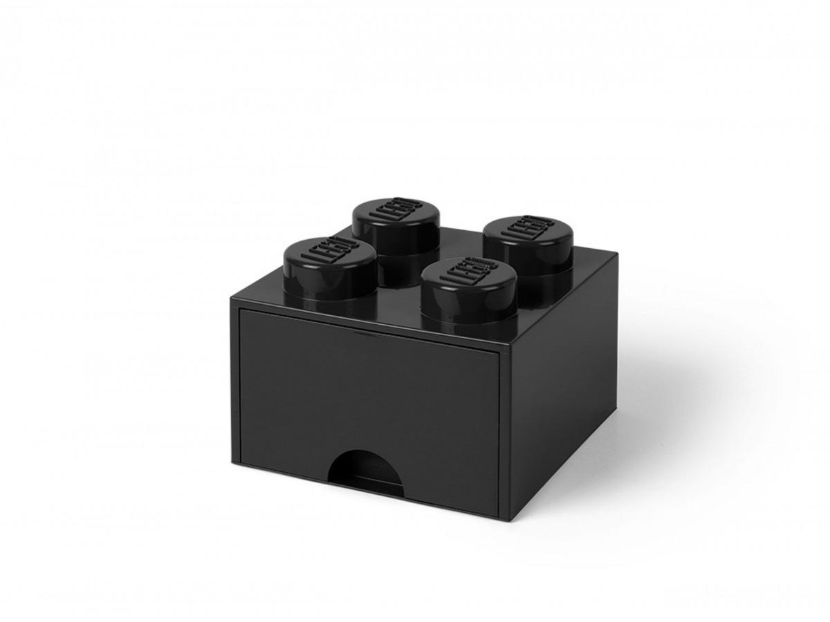 cassetto mattoncino portaoggetti nero a 4 bottoncini lego 5005711 scaled