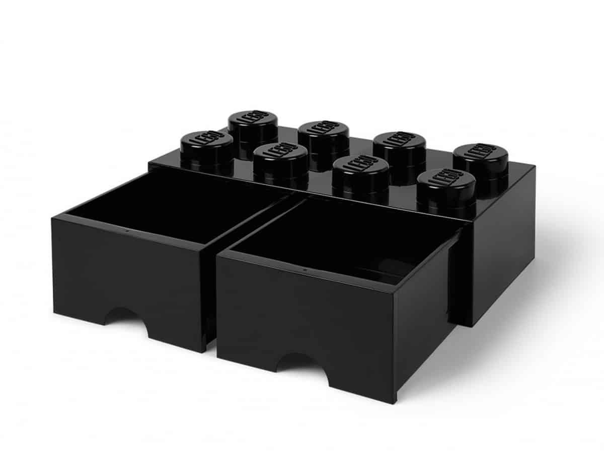 cassetto mattoncino portaoggetti nero a 8 bottoncini lego 5006248 scaled