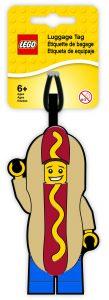 etichetta per bagagli uomo hot dog lego 5005582