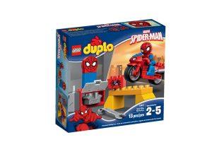 lego 10607 il laboratorio della ragno bici di spider man
