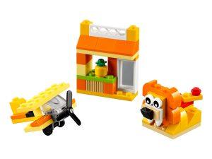 lego 10709 scatola della creativita arancione