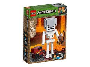 lego 21150 maxi figure dello scheletro con cubo di magma
