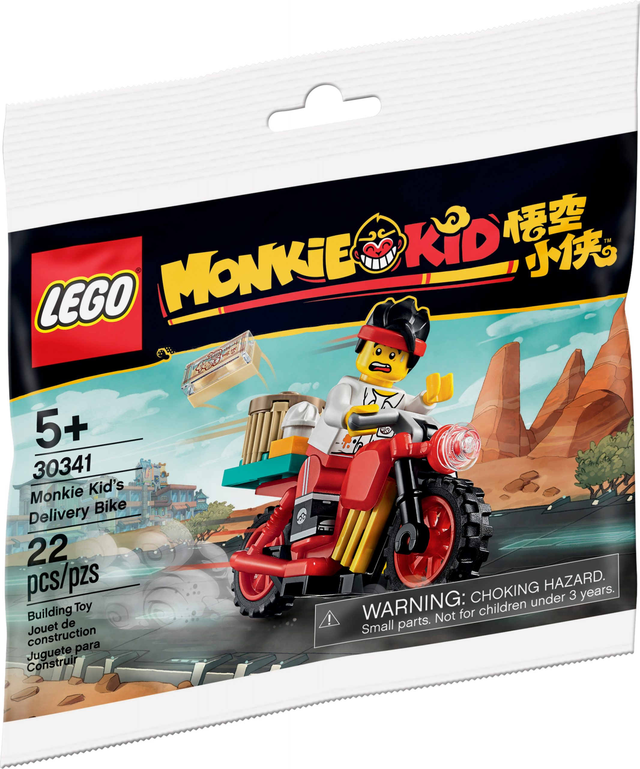 lego 30341 scooter per le consegne di monkie kid scaled