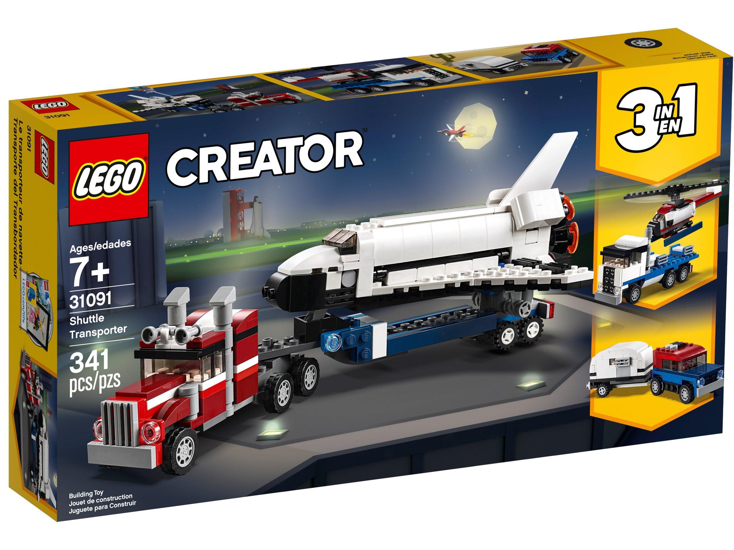 lego 31091 trasportatore di shuttle scaled