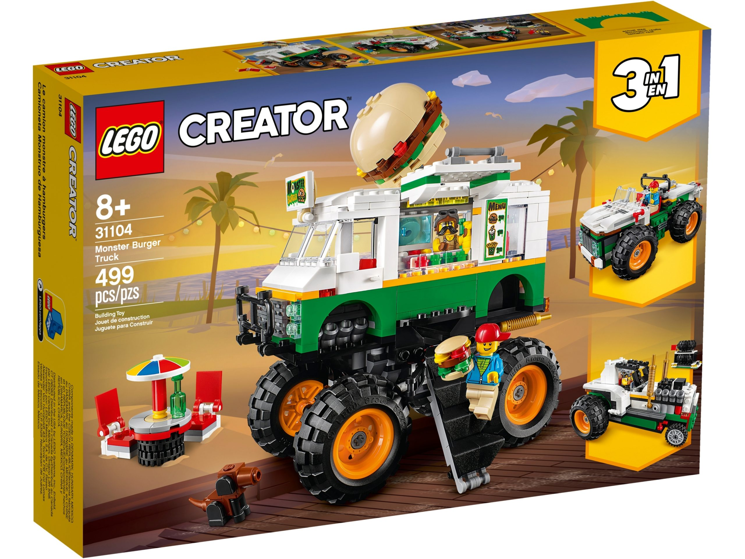 lego 31104 monster truck degli hamburger scaled