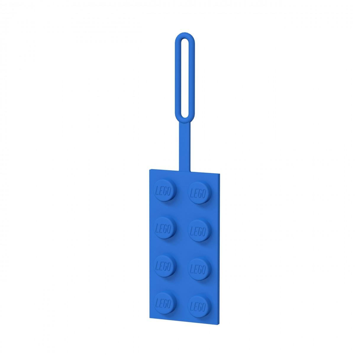 lego 5005543 etichetta per bagagli blu 2x4 scaled