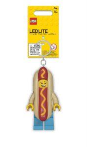lego 5005705 torcia portachiavi uomo hot dog