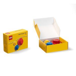 lego 5005906 set di appendiabiti da parete rosso blu e giallo