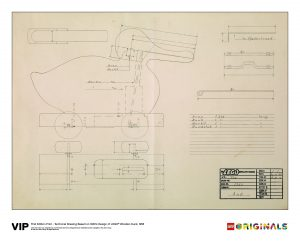 lego 5005999 technical drawing wooden duck 1958