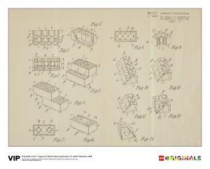 lego 5006004 stampa di domanda di brevetto britannico prima edizione 1968
