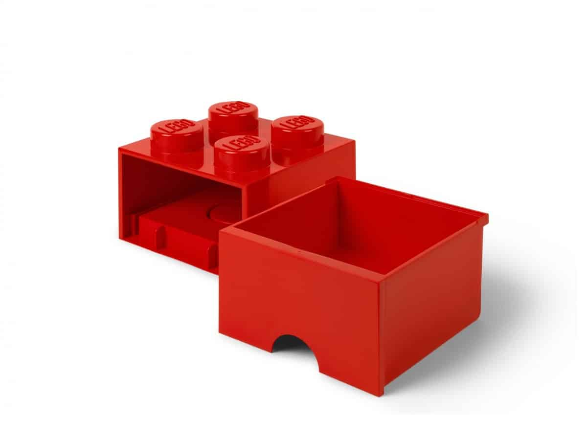 lego 5006129 cassetto mattoncino a 4 bottoncini rosso scaled