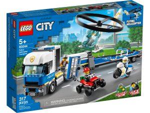 lego 60244 trasportatore di elicotteri della polizia