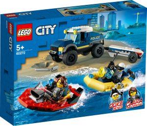 lego 60272 trasportatore di imbarcazioni della polizia