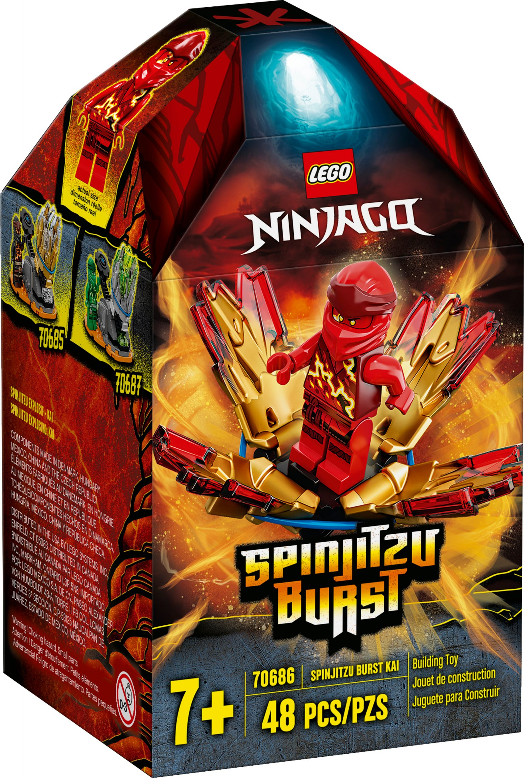 lego 70686 spinjitzu burst kai scaled