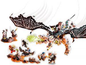 lego 71721 drago dello stregone teschio