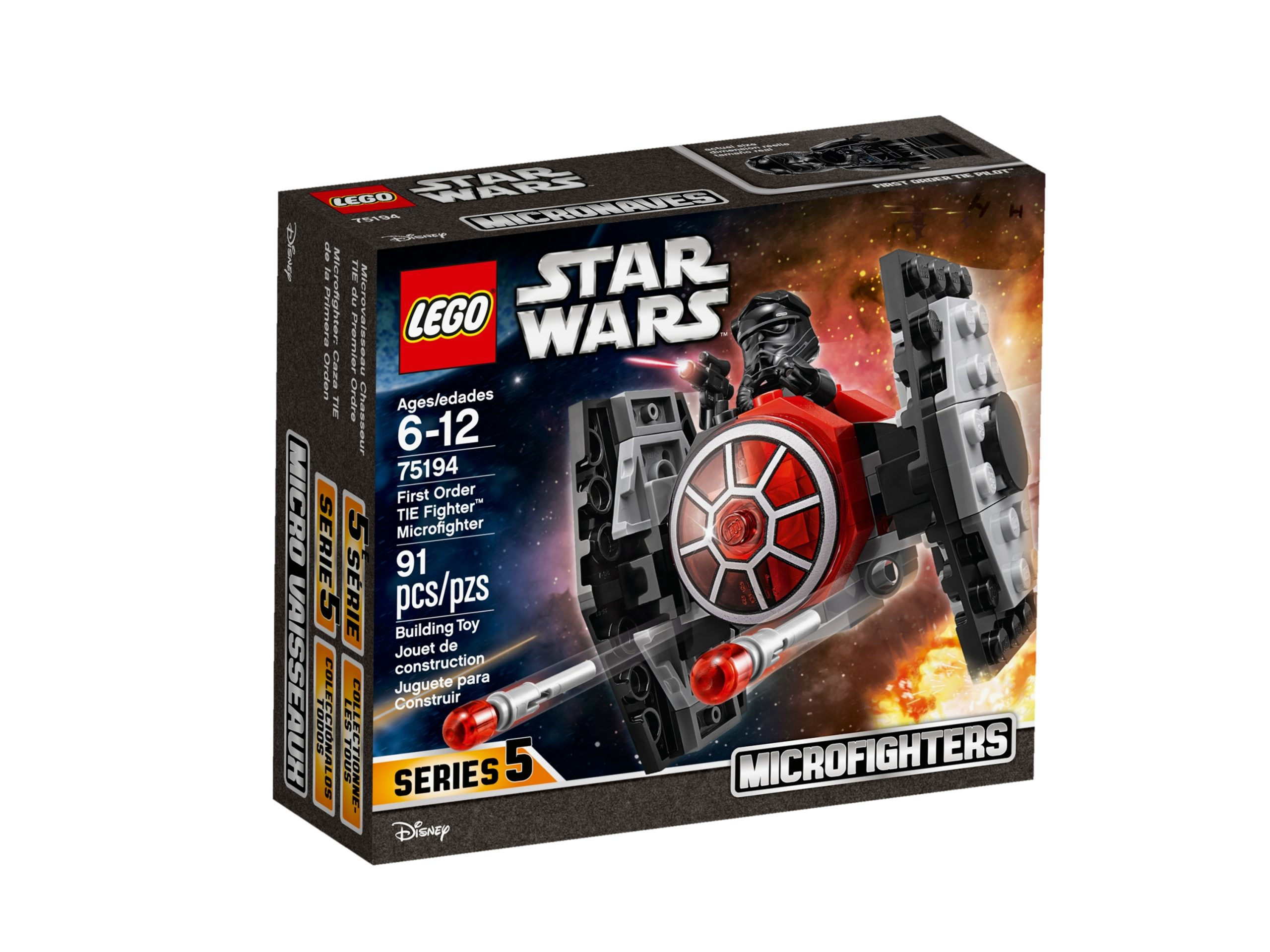 lego 75194 microfighter first order tie fighter scaled