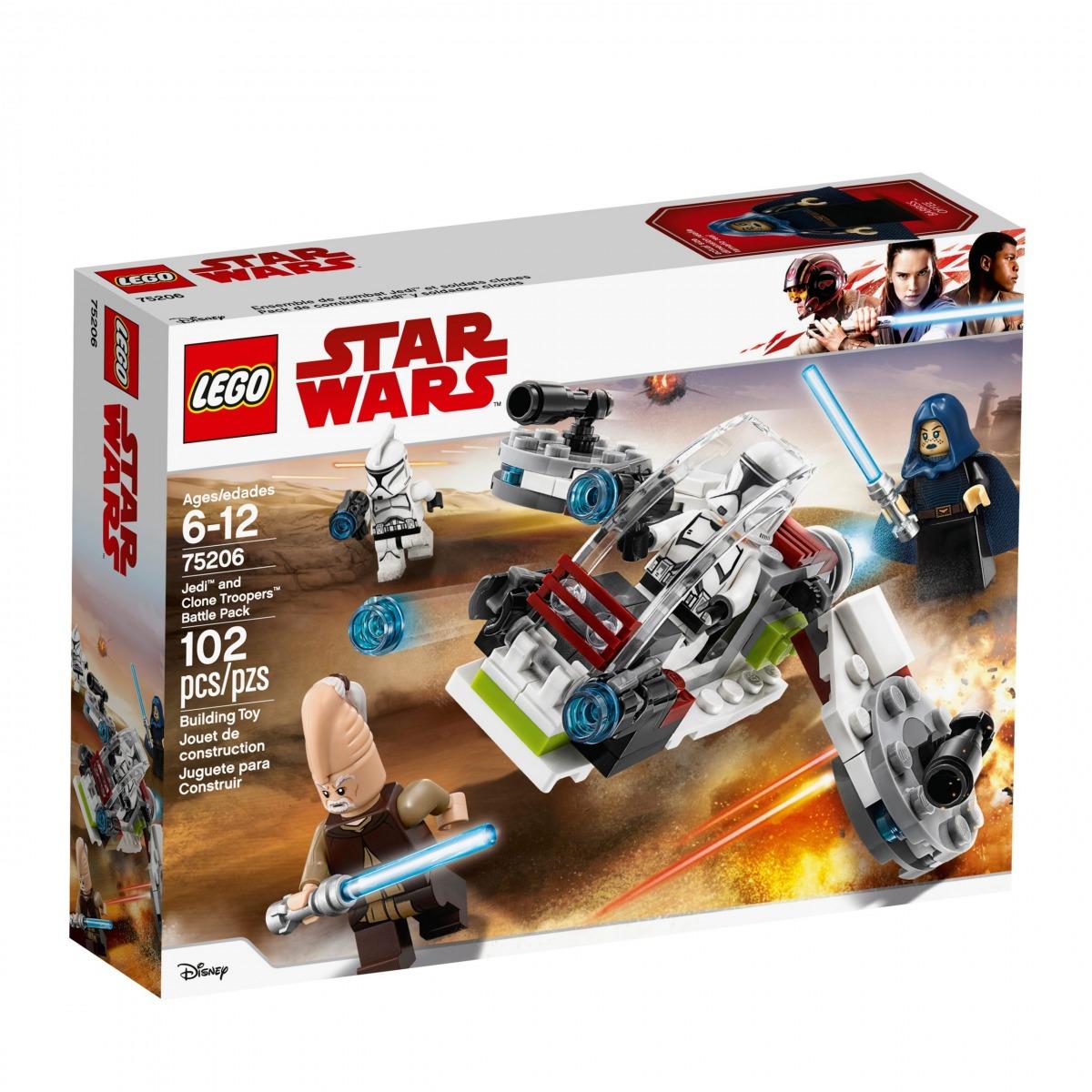lego 75206 battle pack jedi e clone troopers scaled