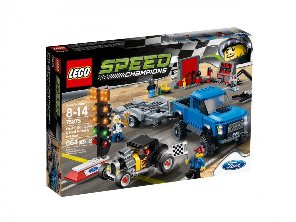 lego 75875 ford f 150 raptor e hot rod ford model a scaled