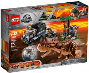 lego 75929 fuga dal carnotaurus sulla girosfera