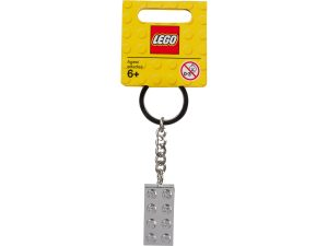 lego 851406 portachiavi con mattoncino 2x4 metallizzato