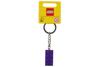 mattoncino portachiavi viola lego 853379