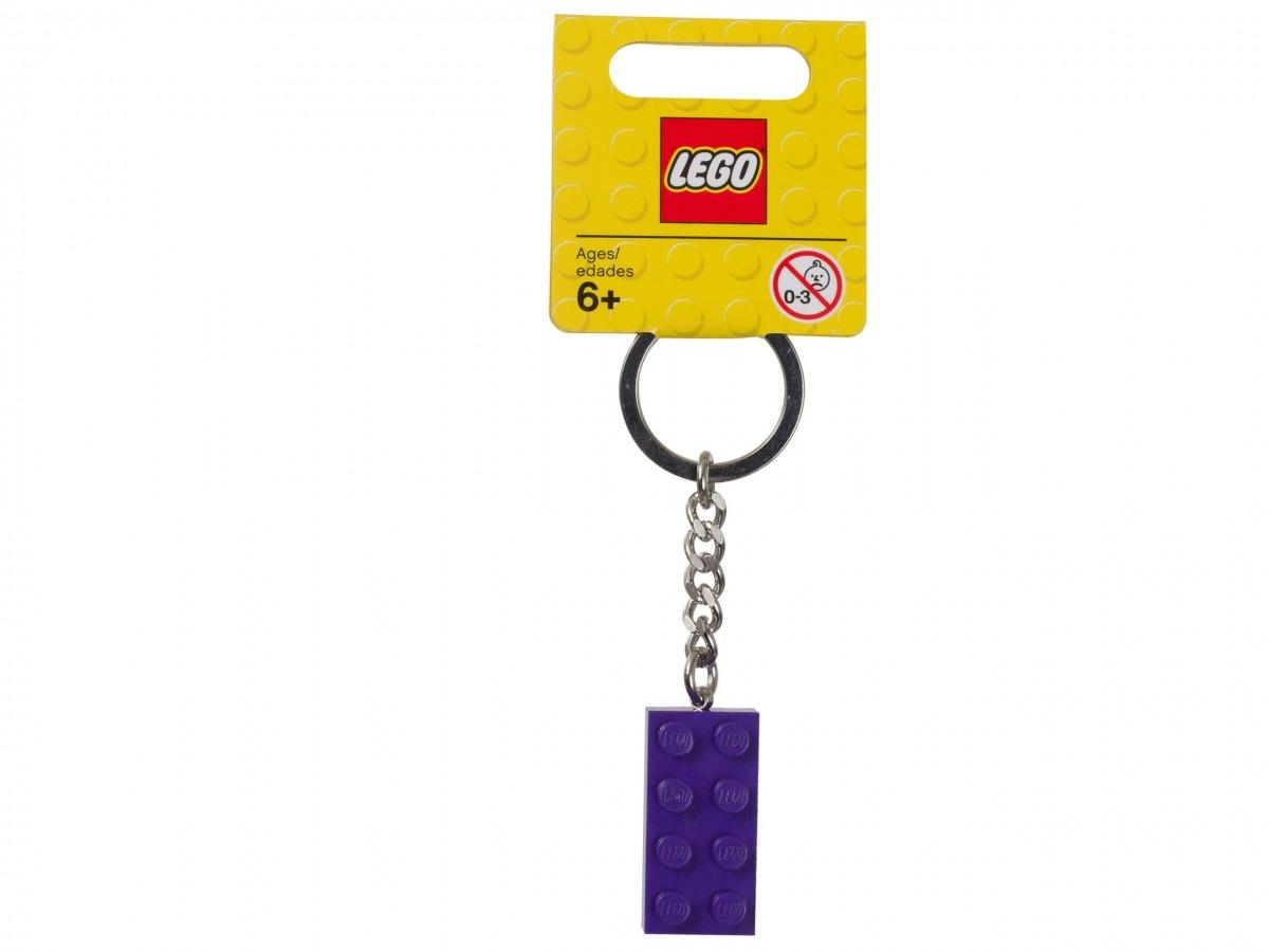 mattoncino portachiavi viola lego 853379 scaled