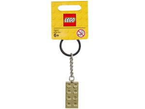 portachiavi con mattoncino lego 850808 dorato