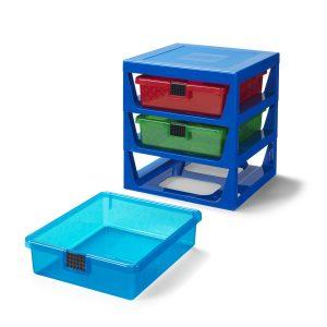 sistema di scaffali blu trasparente lego 5006179