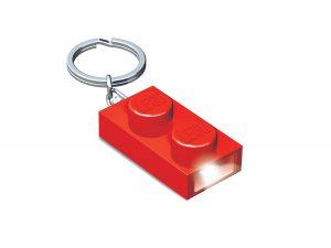 torcia portachiavi a forma di mattoncino 1x2 lego 5004264 rosso