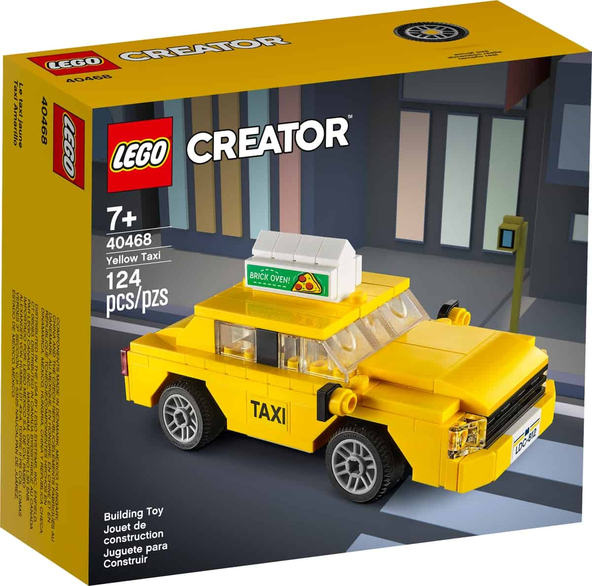 lego 40468 taxi giallo