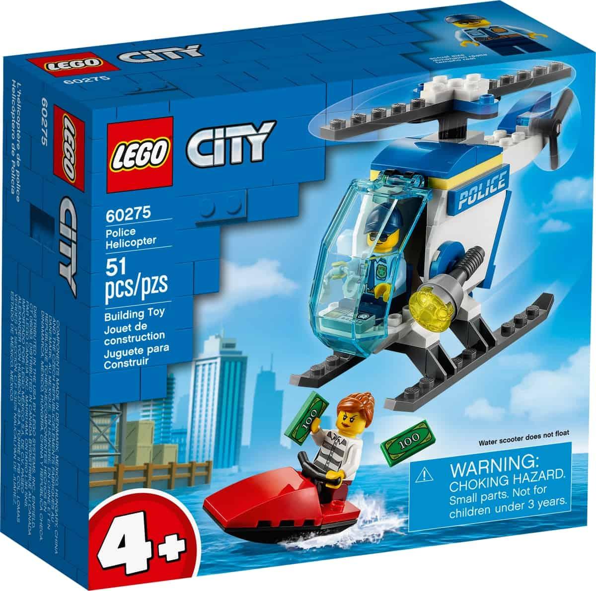 lego 60275 elicottero della polizia