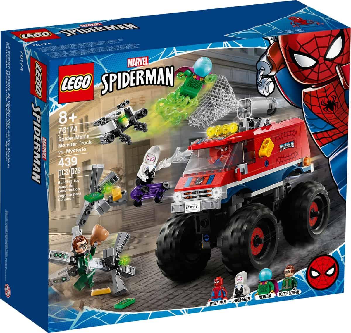 lego 76174 monster truck di spider man vs mysterio