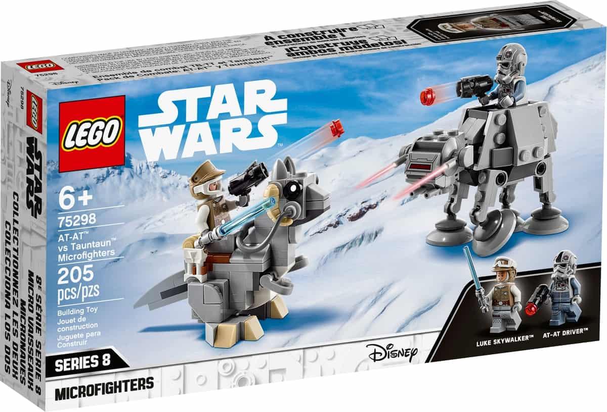 lego 75298 microfighter at at vs tauntaun