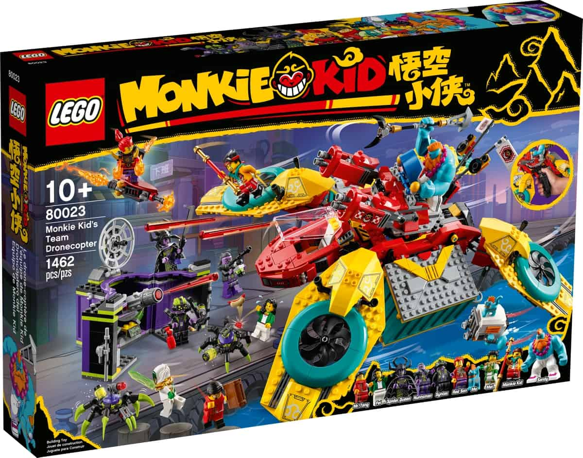 lego 80023 dronecottero del team di monkie kid