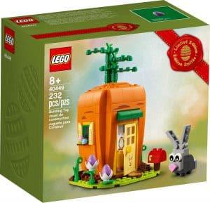lego 40449 la casa carota del coniglietto di pasqua