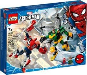 lego 76198 battaglia con mech spider man e dottor octopus