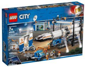lego 60229 assemblaggio e trasporto del razzo