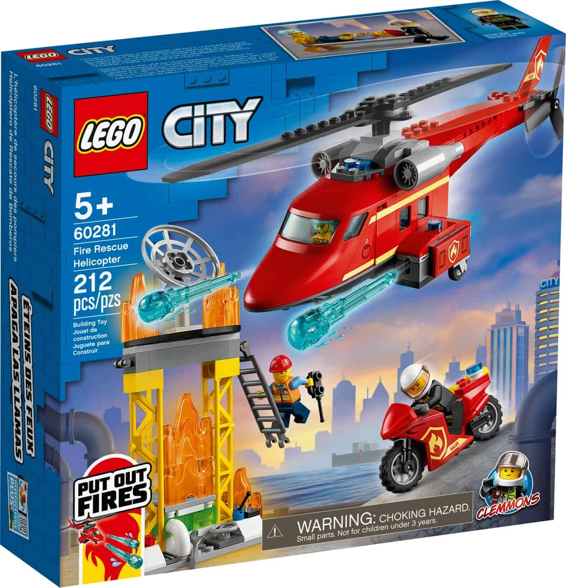 lego 60281 elicottero antincendio