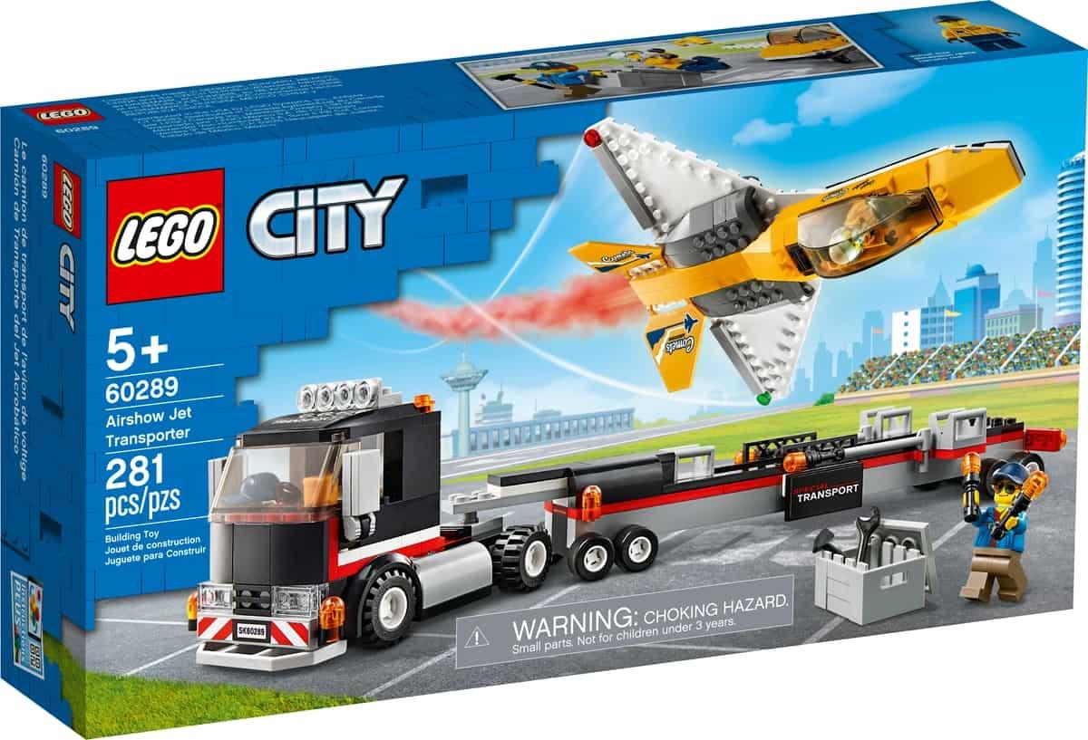 lego 60289 trasportatore di jet acrobatico