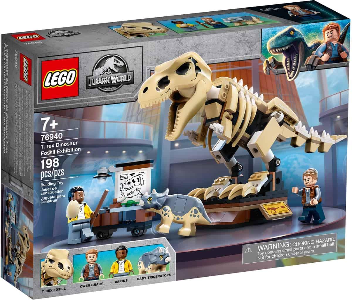 lego 76940 la mostra del fossile di dinosauro t