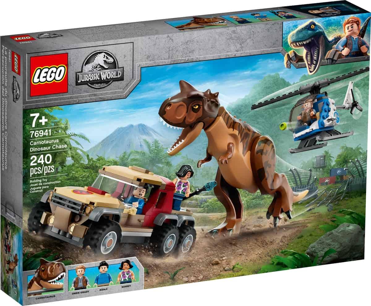 lego 76941 linseguimento del dinosauro carnotaurus