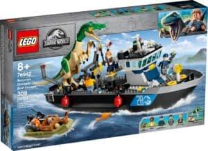 lego 76942 fuga sulla barca del dinosauro baryonyx