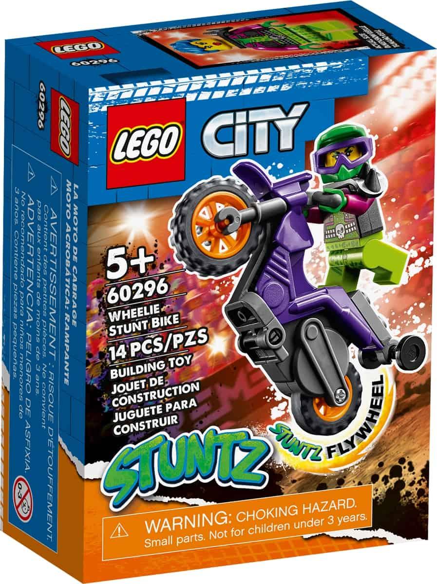 lego 60296 stunt bike da impennata