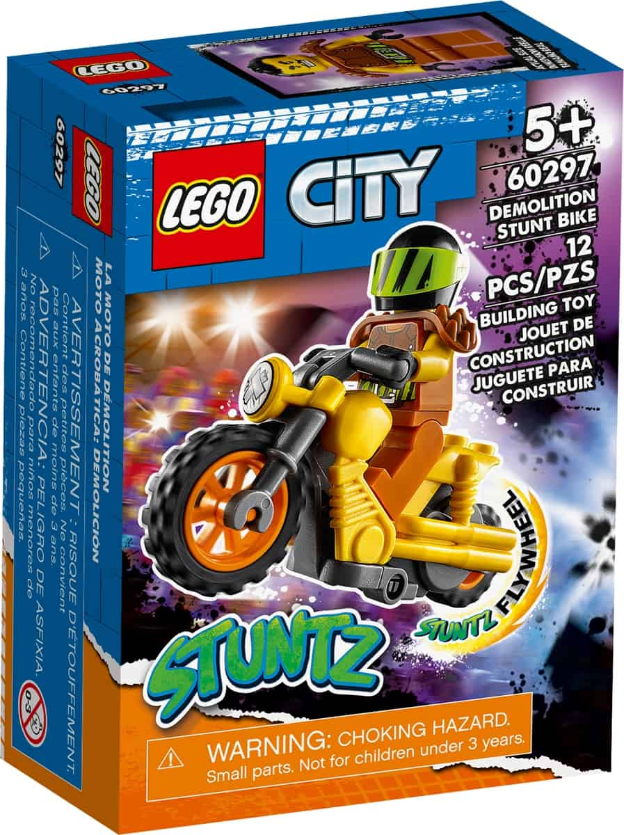 lego 60297 stunt bike da demolizione